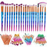 20Pcs Unicorn Diamond Makeup Brushes Set Powder Eyebrow Eyeshadow Soft Brush Kit