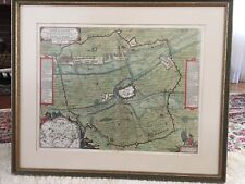 Antique map of the siege of Ayre by Louis XIII (1641) Reverse has text in latin