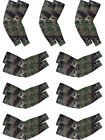 (Camouflage) - Bememo 9 Pairs Unisex UV Protection Sleeves Long Arm Sleeves