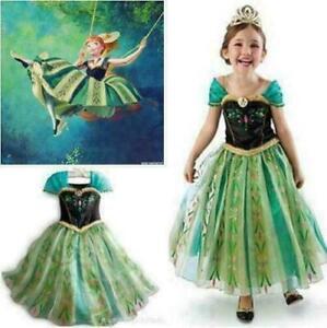 Anna Elsa Mädchen Prinzessin Kleid Kostüm Cosplay Party Outfit Kind Weihnachten