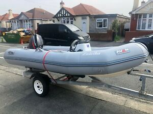 Avon 3.4m RIB with 25HP Mercury outboard and trailer