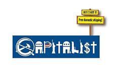 Capitalist Decal/Sticker Conservative Republican Tea Party