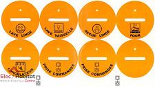 Jeu de 8 étiquettes d'identification Legrand 50897