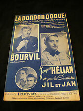 Partition La dondon dodue Bourvil Jacques Hélian  Music Sheet
