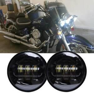 """4.5"""" LED Spot Fog Passing Lights Driving Lamp For Yamaha V star 1100 650 Classic"""