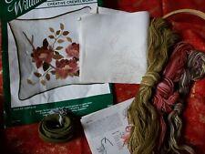 "Vinrage Elsa Williams Crewel Embroidery 12"" Pillow Kit"