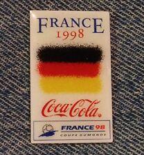 1998 World Cup Soccer~Football Flag Pin~Germany~Coca Cola~Coke~Sponsor