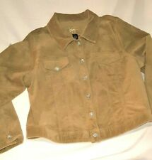 Womens VENEZIA JEANS CORDUROY Jacket Coat with SNOWFLAKE BLING BUTTONS! 18/20