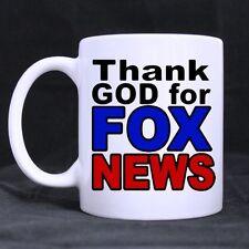 Funny Thank God for Fox News Superior Quality Ceramic White Mug Twin Side