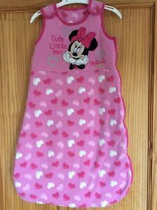 Disney Baby Pink Minnie Mouse Warm Winter Sleeping Bag 2.5 Tog 6-12 months