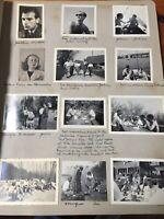 Vtg Post War WWII 1946 Europe European Vacation Snapshots Photo Album Scrapbook