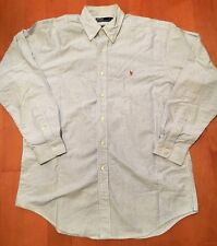 Authentic Polo Ralph Lauren Mens Long Sleeve Dress Shirt Size M