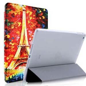 SMART COVER CUSTODIA SUPPORTO STAND per Apple iPad AIR 1 e 2 PARIGI Torre Eiffel