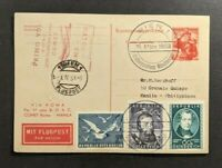 1953 Vienna Austria First Flight Cover to Manila Philippians Special Cancel