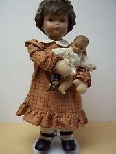 Vintage Switzerland Heidi Ott Artist Doll Lucie and Baby  #2482 1980's Excellent