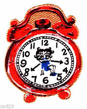 "3""  Betty boop clock fabric applique iron on character"