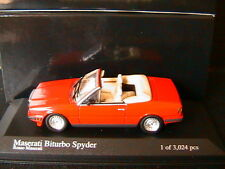 1 43 Minichamps Maserati Biturbo Spyder 1986 Red