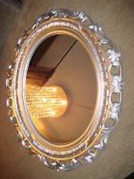 Espejo de Pared 58 x 68 Barroco ovalado NUEVO 120 Plata Antiguo 1bilderrahmen