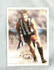 2003  XL ULTRA AFL CARD - 2002 RISING STAR RSN6  JASON CLOKE, COLLINGWOOD