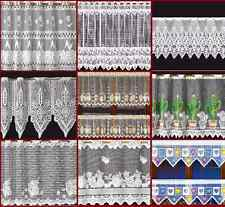 CHOICE OF 10 CONTEMPORARY  Cafe Net Curtains -  Sold by the metre - FREE POSTAGE