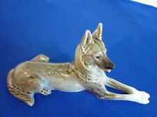 More details for lomonosov figure of an alsatian laying down in excellent condition ussr