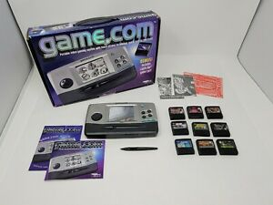 Tiger Electronics Game.Com Handheld Video Game System w/ 9 Games Resident Evil++