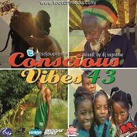 CONSCIOUS VIBES VOL 43 REGGAE ROOTS CULTURE LOVERS ROCK MIX CD