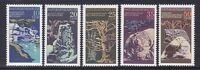 Germany DDR 1796-1800 MNH 1977 Natural Monuments Complete Set Very Fine