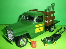 1953 JEEP WILLYS STAKE BED TRUCK JOHN DEERE DIE=CAST 1/25 LIBERTY CLASSICS NEW