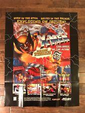 "1996 (Capcom) ""X-MEN: CHILDREN OF THE ATOM"" (28"" x 22"") Video Game PROMO Poster"