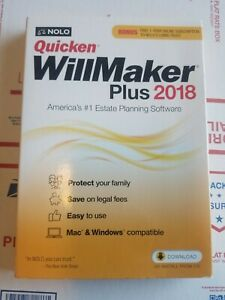 NOLO Quicken WillMaker Plus 2018 with Bonus Free 1-Year Online Subscription