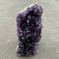 Amethyst Druze Crystal Cluster With Cut Base ~ Exact Specimen (ACB_6)