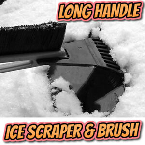Long Handle Ice Scraper Windscreen Frost Window Snow Car Van De Icer Windshield