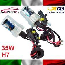 Coppia lampade bulbi kit XENON BMW X1 H7 35w 8000k lampadine HID fari luci