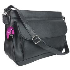 Organiser Handbag Long Shoulder Strap Bag Across Cross Body Compartments Ladies