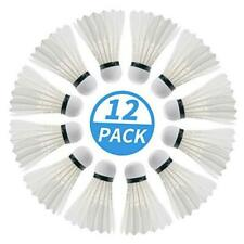 New listing Badminton Birdie, 12 Pack Duck Feather Badminton Shuttlecocks with Great