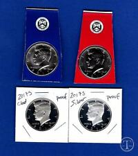 2017 PDSS BU, Clad AND  Silver Proof Kennedy Half Dollar Set-P D From Mint Set