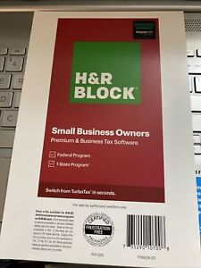 2020 H&R Block Premium & Business Tax Software: Small Business Owners Fed+1State