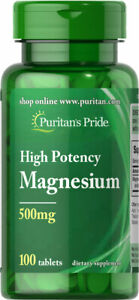 Puritan's Pride Magnesium 500 mg 100 Tablets