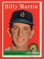 1958 Topps #271 Billy Martin VG-VGEX+ MARKED Detroit Tigers FREE SHIPPING