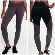 NIKE POWER LEGENDARY Tight Fit Training Tights Ankle Zip MID RISE DRI-FIT