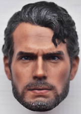 Custom 1/6 Head sculpt Beard Henry Cavill clark kent man of steel superman Hot