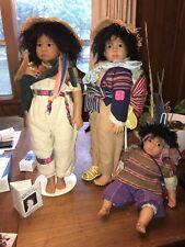 Set Of 3 - Gotz - By Karin Schmidt - Vintage Peru Collector Dolls