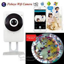 360° Full Vision Fisheye HD 720P P2P Wireless WIFI IP Camera CCTV Network Night