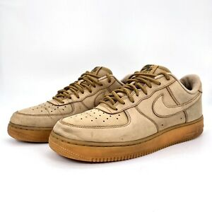 Nike Air Force 1 Flax Wheat Gum Sole Athletic Shoes AA4061-200 Mens Size 10