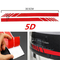 2Pcs Rearview Mirror Carbon Fiber 5D Sticker Vinyl Stripe Decal Car Accessories