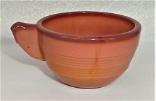 Akro Agate Child Tea Set Large Concentric Ring Pumpkin Cup