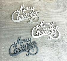 Stanzschablone/ Cutting dies Weihnachten merry christmas Schriftzug, 5x7,5 cm