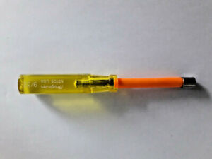 Snap-On Tools 9/32  Nut Driver Hard Yellow Handle USA ND109