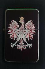 POLAND POLISH EAGLE  FLIP LIGHTER WITH PRESENTATION TIN & SLEEVE